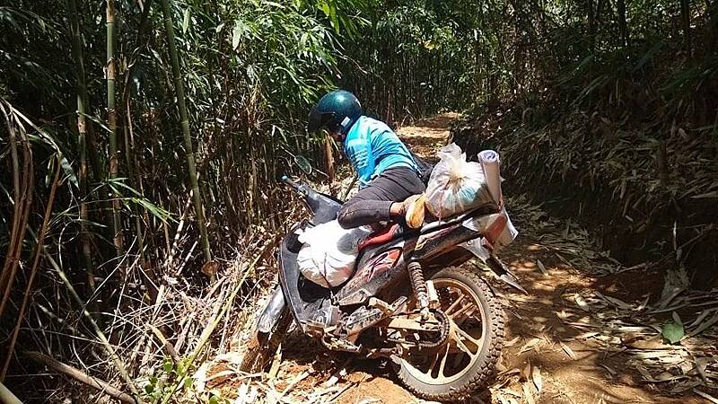 Jungle roads in Chin State