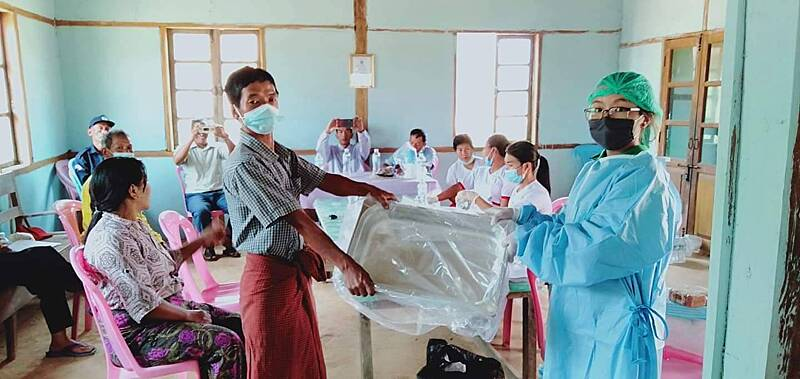 Providing equipment to local clinics