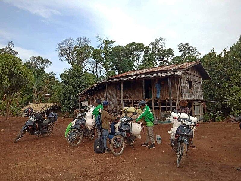 Arriving in villages