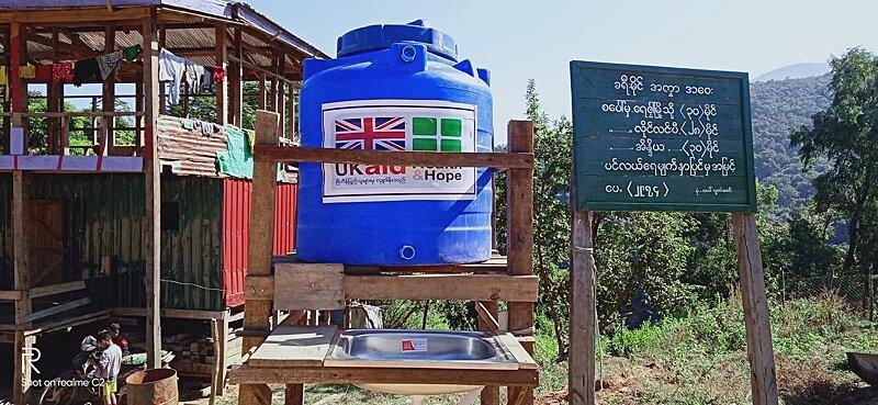 Local hand washing station