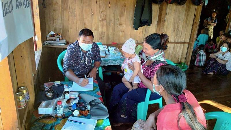 Health clinics run by HHM medical team