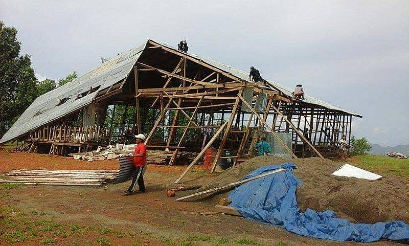Training centre after Cyclone Mora